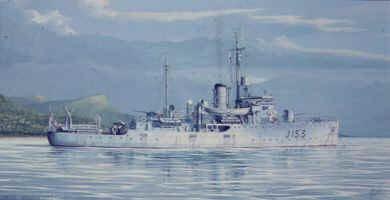H.M.A.S. Wyhalla 1943 by Brian Wood.