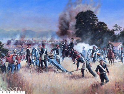 The Madras Foot Artillery at the Assault on Chin-Kiang-Foo, 21st July 1842 by David Rowlands.