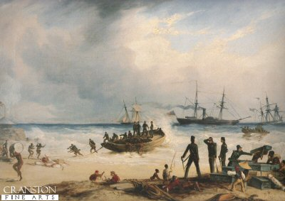 Landing at Algoa Bay, Cape of Good Hope by Thomas Baines