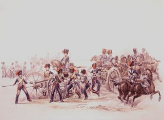 Royal Horse Artillery.  Halt Action Front by Campion.