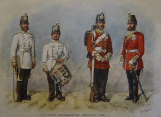 VAR591P.  38th 1st Staffordshire Regiment 1856.