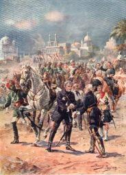 The Meeting of Sir Colin Campbell and General Outram, Relief of Lucknow by Harry Payne (P)