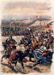 Charge of the French Cavalry, Battle of Crecy by Harry Payne.