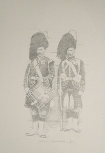 Drummer and Infantryman, Cameron Highlanders c.1890 by Chris Collingwood.