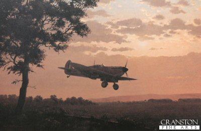 Supermarine Spitfire Mk.Ia N3093 of 616 Sqn RAF by Keith Woodcock. (PC)