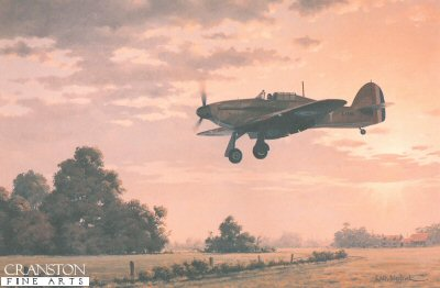 Hawker Hurricane Mk I L1856 of 1 Sqn RAF by Keith Woodcock.