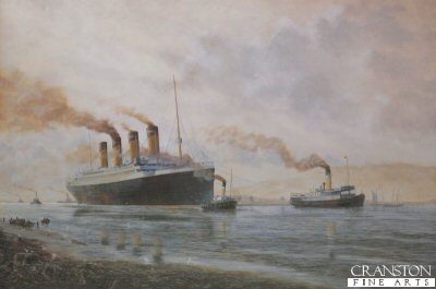 Titanic Leaving Belfast for Sea Trials by E. D. Walker.