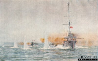 Dogger Bank Battle: Aurora begins the Action by W L Wyllie.