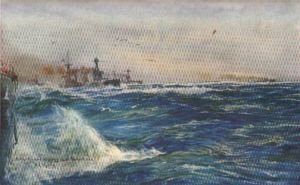 Battle Cruisers Zigzagging in the North Sea by W L Wyllie.