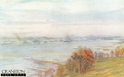 Battleships in the Forth by W L Wyllie.
