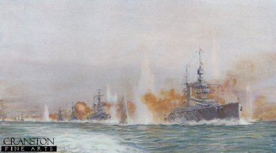 Lion Leading the Battle Cruisers by W L Wyllie.