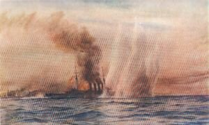 Southampton in the Battle of Jutland by W L Wyllie.