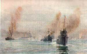The Battle Cruisers Arrive by W L Wyllie.